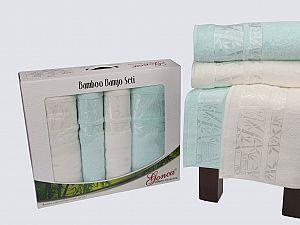 Комплект полотенец Gonca Lara, кремовый и светло-зеленый