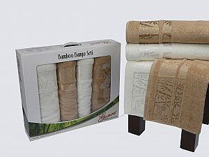 Комплект полотенец Gonca Lara, кремовый и кофейный