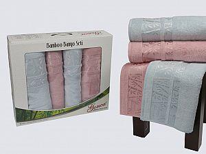 Комплект полотенец Gonca Lara, голубой и розовый