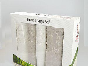 Комплект полотенец Gonca Lara, кремовый и серый