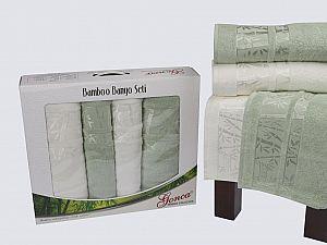 Комплект полотенец Gonca Lara, кремовый и зеленый