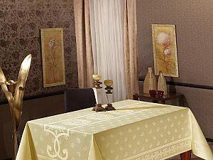 Скатерть Monalit Pano Cascade 160х220 см, золотистая