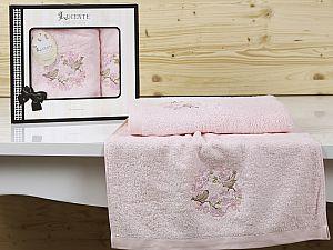 Комплект полотенец Lucente Corona, розовый