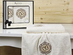 Комплект полотенец Lucente Infisso, кремовый