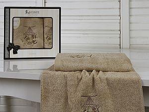 Комплект полотенец Lucente Gabbia, бежевый