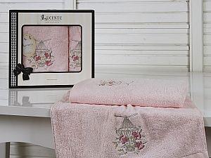Комплект полотенец Lucente Gabbia, розовый