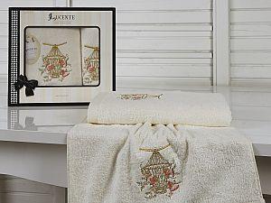 Комплект полотенец Lucente Gabbia, кремовый