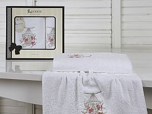 Комплект полотенец Lucente Gabbia, белый