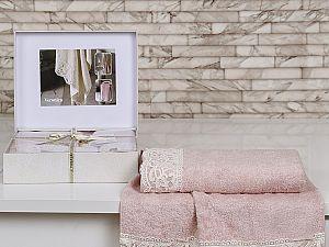 Комплект полотенец Altinbasak Veronika, розовый