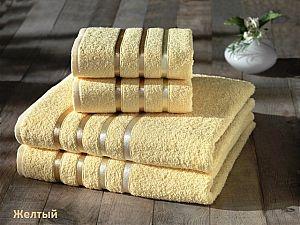 Комплект полотенец Karna Bale, жёлтый