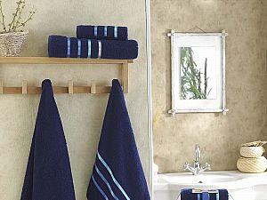 Комплект полотенец Karna Bale, синий
