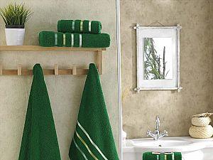 Комплект полотенец Karna Bale, темно-зеленый