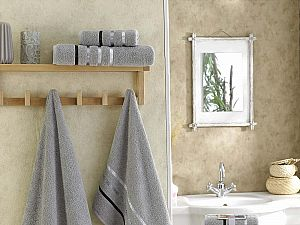 Комплект полотенец Karna Bale, серый