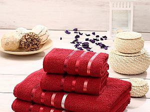 Комплект полотенец Karna Bale, красный