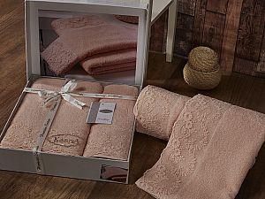 Комплект полотенец Karna Elinda, абрикосовый