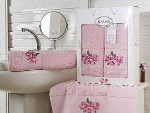 Комплект полотенец Karna Havin, розовый