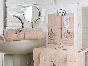 Комплект полотенец Karna Havin, абрикосовый