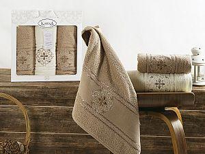 Комплект полотенец Karna Seher, кофейный