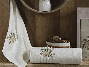 Комплект полотенец Karna Rosen, кремовый арт. 2356/char001