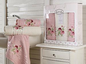 Комплект полотенец Karna Rosen, светло-розовый арт. 2357/char005