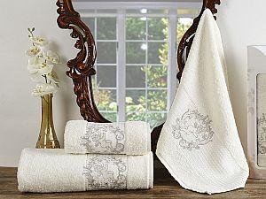 Комплект полотенец Karna Claris, кремовый арт. 2359/char003