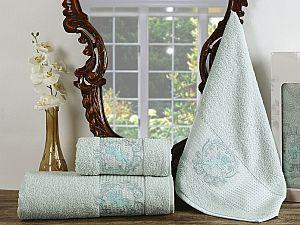 Комплект полотенец Karna Claris, светло-зеленый арт. 2359/char005
