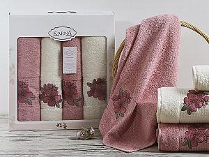 Комплект полотенец Karna Orkide, розовый арт. 2362/char004