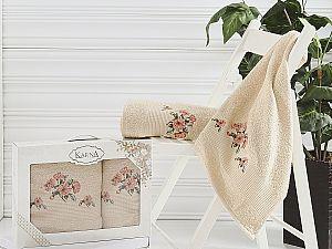 Комплект полотенец Karna Devon, бежевый арт. 2388/char002