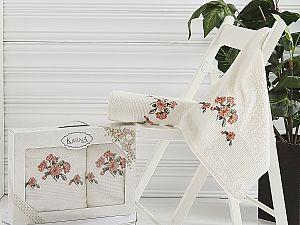 Комплект полотенец Karna Devon, кремовый арт. 2388/char004