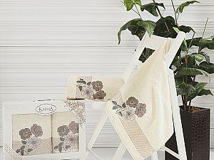Комплект полотенец Karna Sandy, кремовый арт. 2390/char002