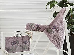 Комплект полотенец Karna Sandy, светло-лаванда арт. 2390/char004