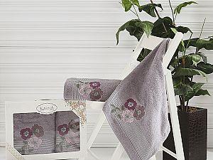 Комплект полотенец Karna Sandy, темно-серый 2390/char006
