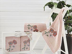 Комплект полотенец Karna Sandy, пудра арт. 2390/char003