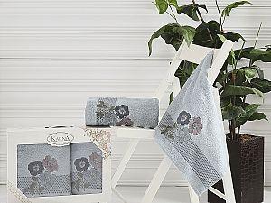 Комплект полотенец Karna Sandy, стоне арт. 2390/char005