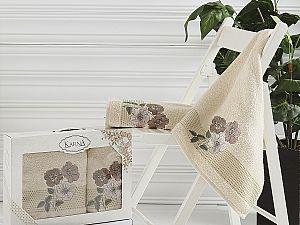 Комплект полотенец Karna Sandy, бежевый арт. 2390/char001