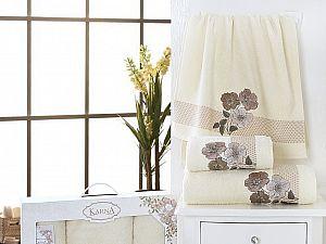 Комплект полотенец Karna Sandy, кремовый арт. 2391/char002