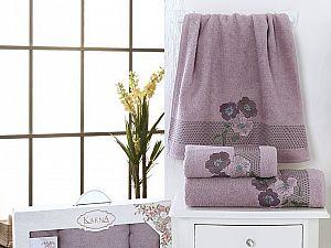 Комплект полотенец Karna Sandy, светло-лаванда арт. 2391/char004