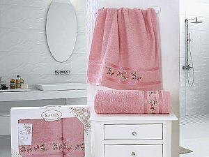 Комплект полотенец Karna Monica, грязно-розовый арт. 2392/char002