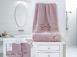 Комплект полотенец Karna Monica, светло-лаванда арт. 2392/char006