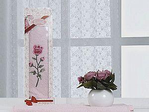 Полотенце Karna Hevin 40х60 см, розовое