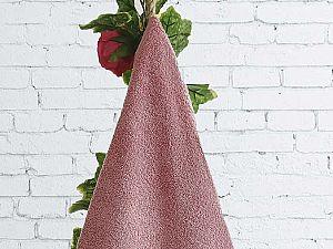 Полотенце Karna Lauren 50х90 см, грязно-розовое