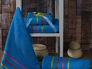 Комплект полотенец Karna Bale Neon, бирюзовый арт. 967/char004