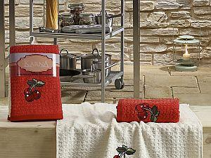 Комплект полотенец Karna Lemon V2 45x65 см, красный
