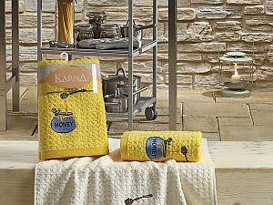 Комплект полотенец Karna Lemon V3 45x65 см, желтый