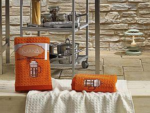 Комплект полотенец Karna Lemon V2 45x65 см, оранжевый