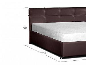 Кровать Moon Trade Птичье гнездо Модель 381 Кофе с подъемным механизмом