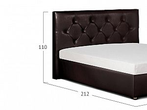 Кровать Moon Trade Монблан Модель 383 Кофе с подъемным механизмом