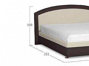 Кровать Moon Trade Мирабель Модель 379 Рожь+Кофе с подъемным механизмом