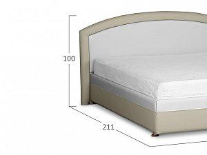 Кровать Moon Trade Мирабель Модель 379 Молоко+Рожь с подъемным механизмом