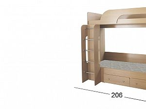 Кровать Moon Trade Катюша-1 Модель 505 Бук с щит-основанием